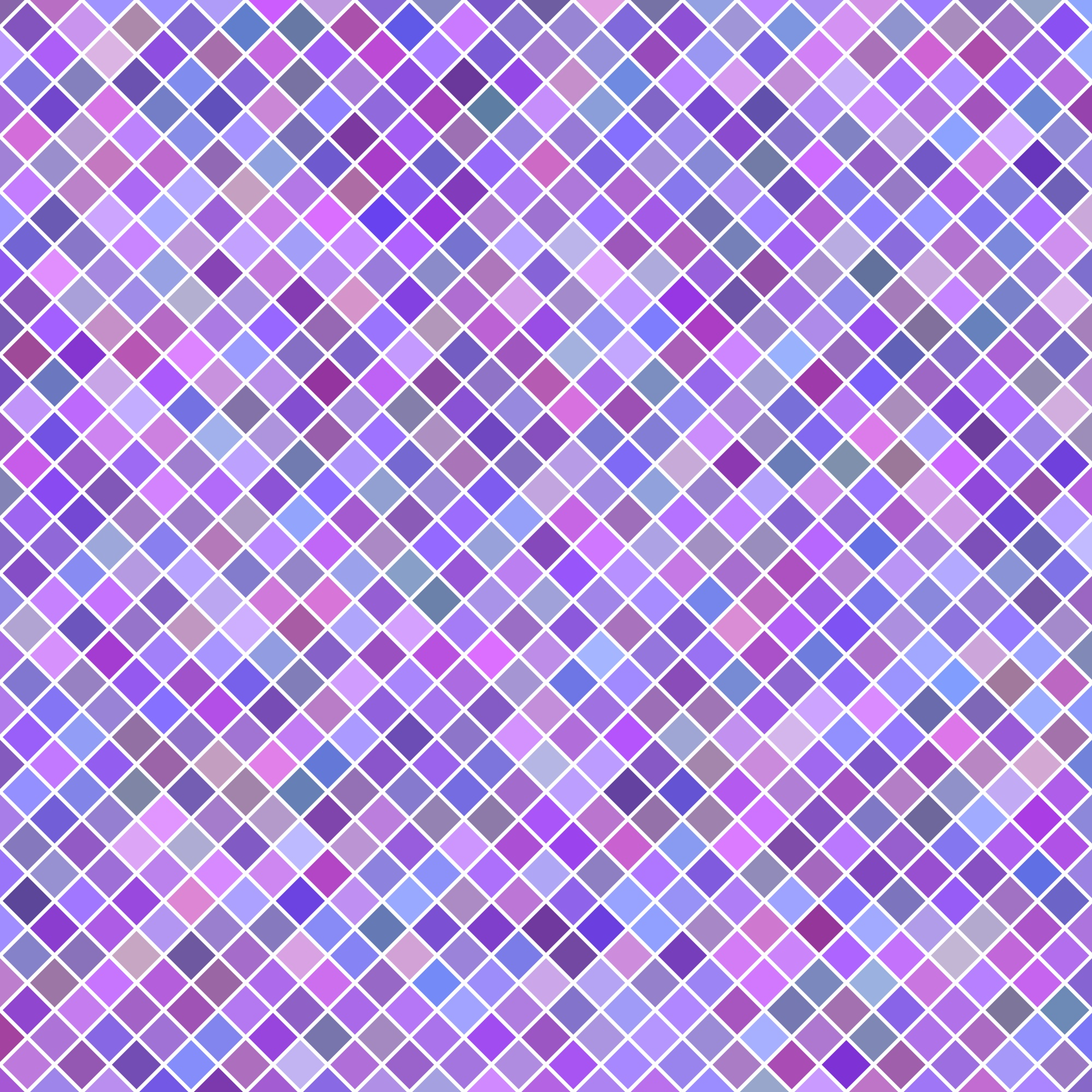Color abstract diagonal square pattern background - vector illustration from purple squares