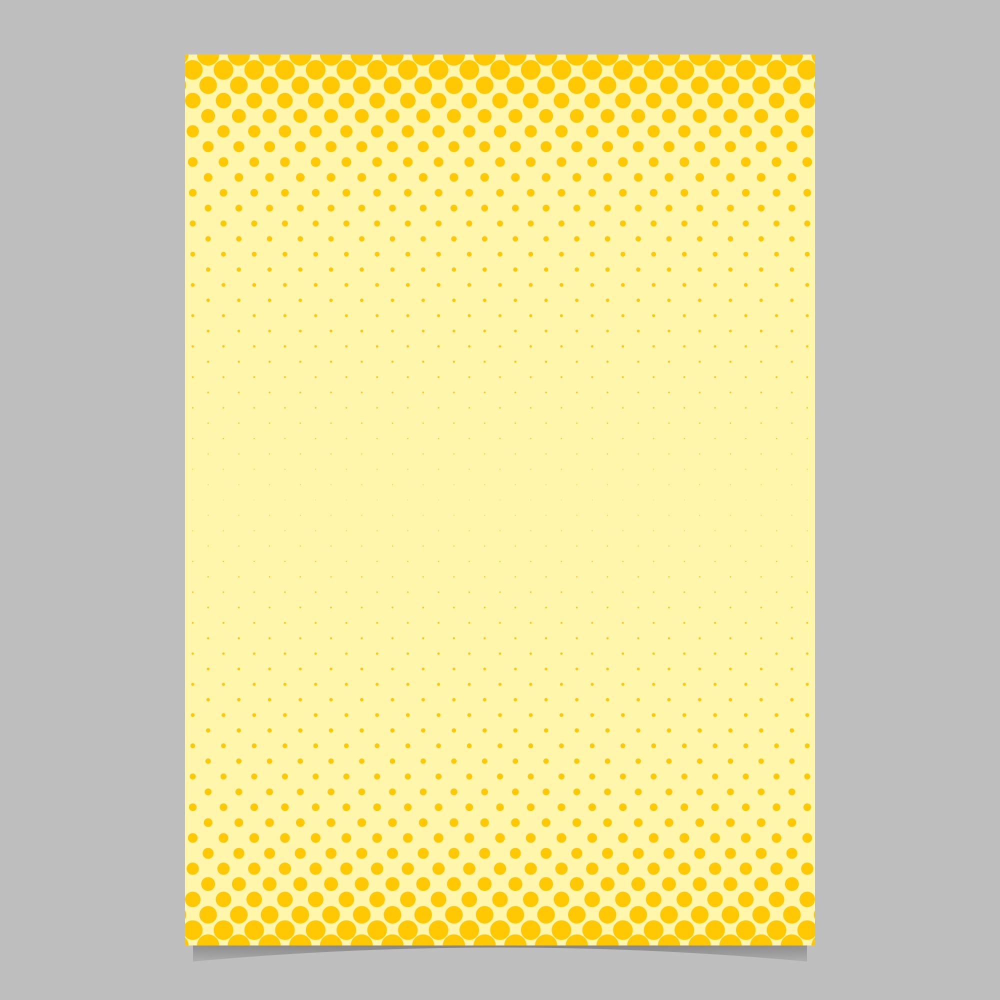 Color abstract halftone circle pattern card template - vector flyer background design with colored dots