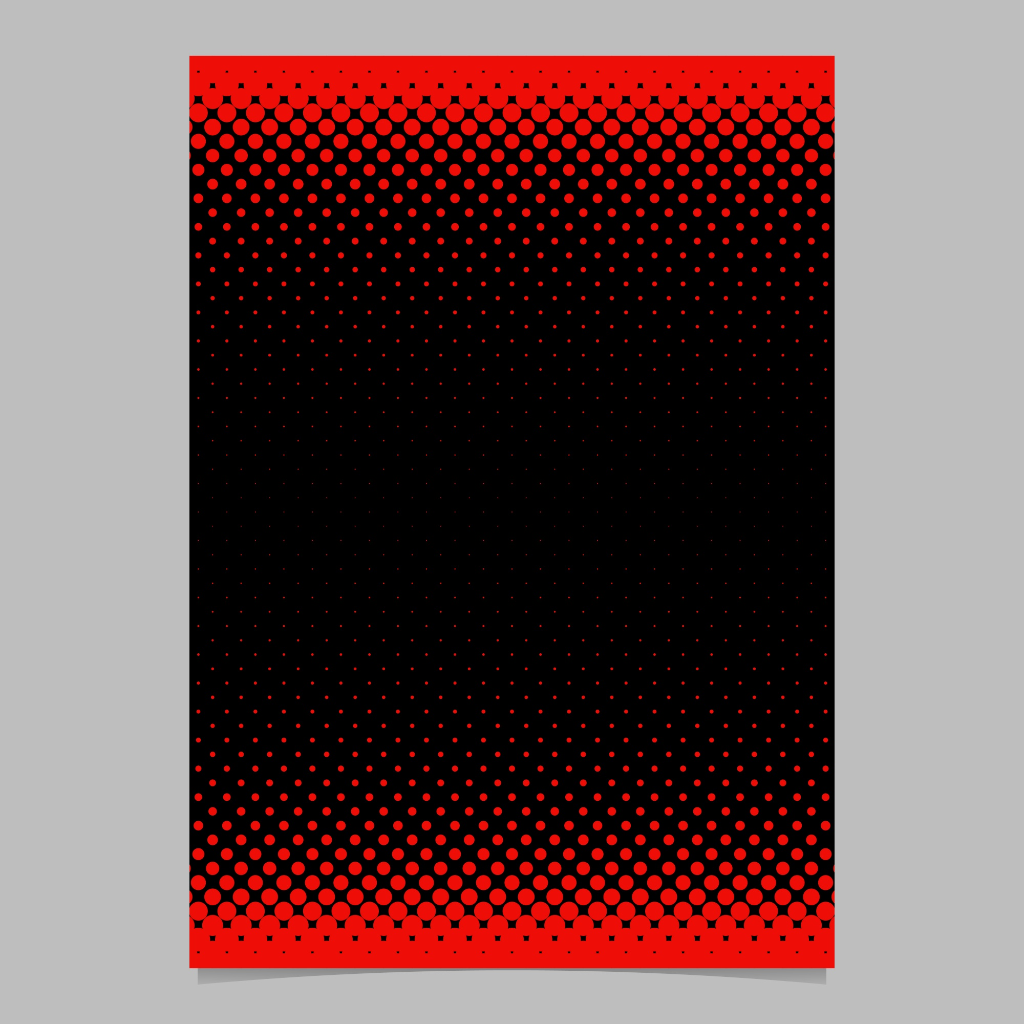 Color abstract halftone circle pattern card template - vector stationery background graphic design with dot pattern