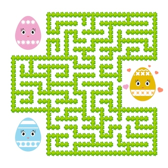 Color abstract labyrinth. kids worksheets. activity page. game puzzle for children.