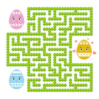 Цветной абстрактный лабиринт. детские рабочие листы. страница активности. игра-головоломка для детей.