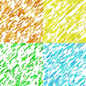 Color abstract random diagonal stripe pattern background set