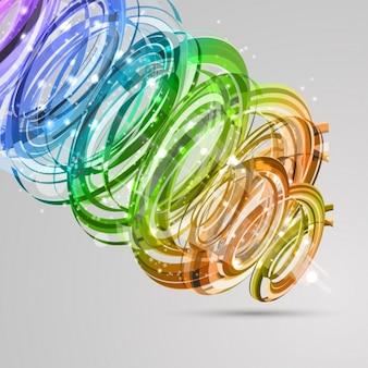 色抽象的な形の背景