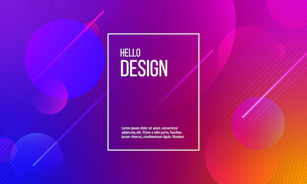 Color background with abstract dots and lines