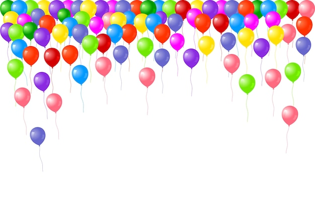 Color balloons background with place for text.