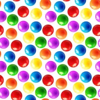 カラーボールのシームレスなパターン