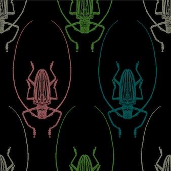 Цвет жуков насекомых бесшовные