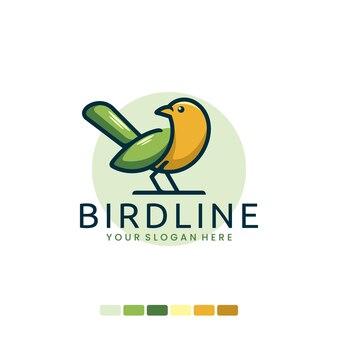 Color bird line , logo design inspiration