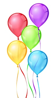 Color birthday party balloons