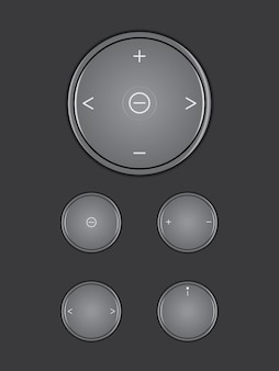 Color black button icon multimedia on dark color background