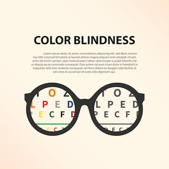 Color blindness illustration template