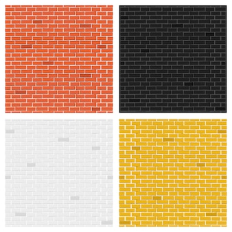 Color brick textures collection.