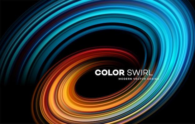 Color bright swirl shape
