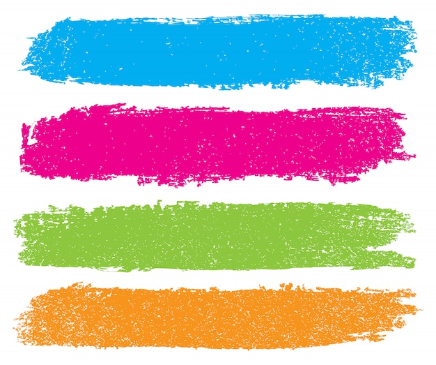 Color brush stroke banners