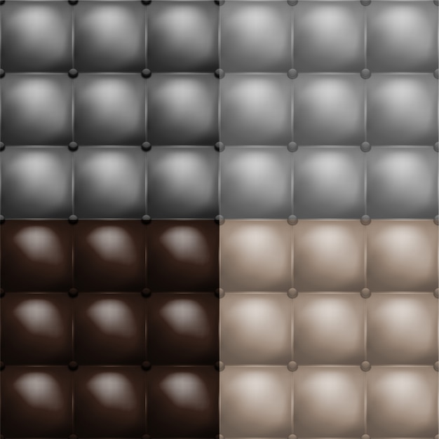 Color buttoned leather upholstery pattern texture