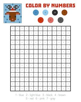 Раскраска по номерам, развивающая игра для детей, олень