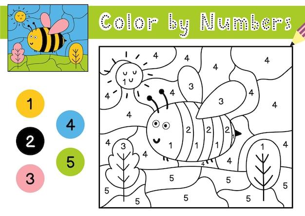 아이들을위한 숫자 게임으로 색칠하기