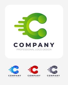 Color c letter logo