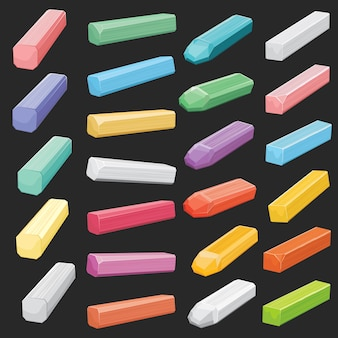 Color chalk pastel sticks