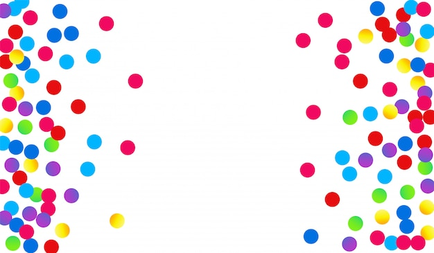 Color circle celebrate postcard. fun dot banner