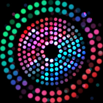 Цветной круг на черном фоне