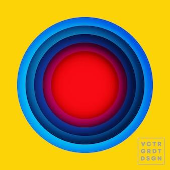 Цветные круги дизайн для флаера, плаката, обложки брошюры, фона, обоев, типографии или другой полиграфической продукции. векторная иллюстрация.