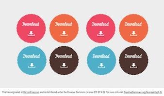 Color download button badges