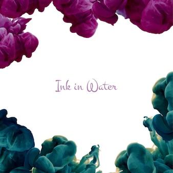 Color drop in water