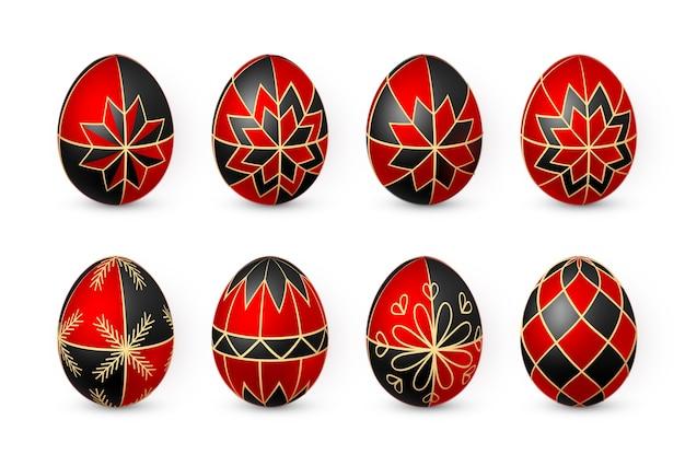 Цветное пасхальное яйцо на белом фоне. шаблон оформления. векторная иллюстрация.