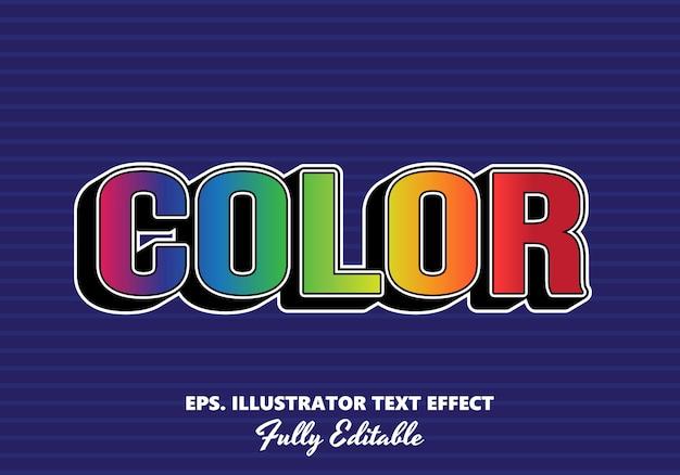 Color  editable text effect