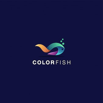 Color fish logo awesome inspiration
