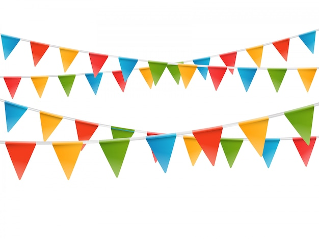 Color flags garland.