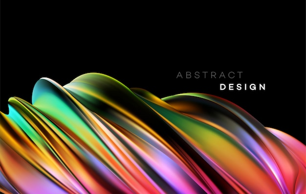 Color flow abstract shape background