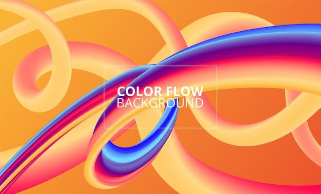 Color flow background design