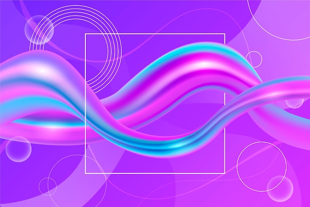 Color flow background with circles