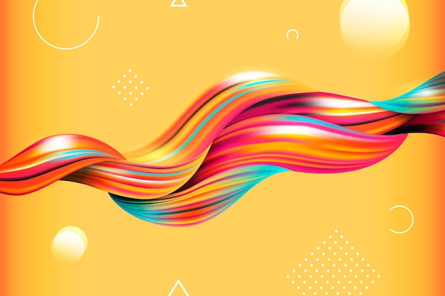 Color flow background