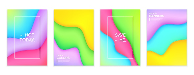 Color fluid banners