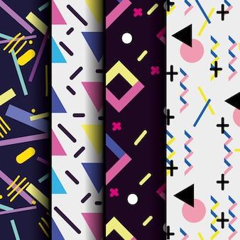 Color geometric figure background design vector illustration