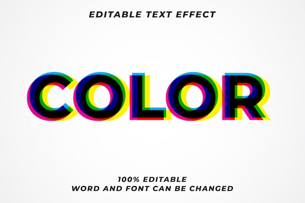 Color glitch multiply text style effect