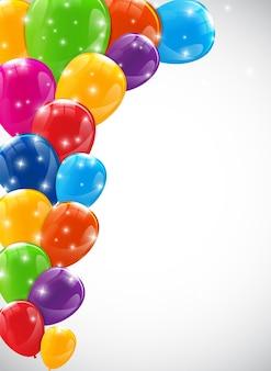 Цвет фона глянцевые шары векторные иллюстрации eps10