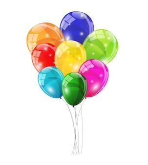 Цвет фона глянцевые шары векторные иллюстрации
