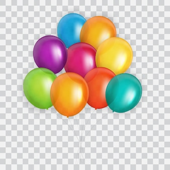 Color glossy balloons background