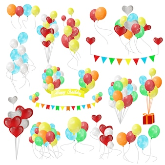 Color glossy balloons.