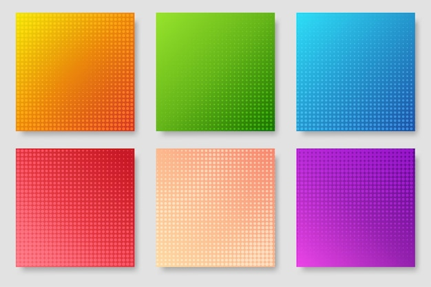 Color gradient background, geometric halftone pattern