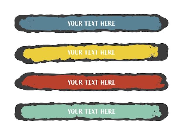 Color grunge banner set