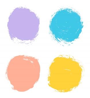 Color grunge circles set