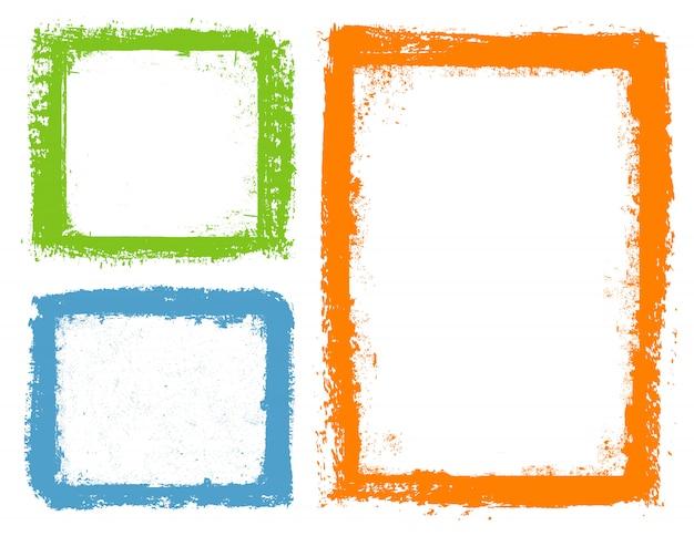 Color grunge frames
