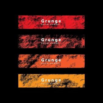 Bandiera dell'etichetta del grunge di colore