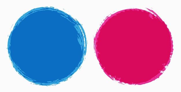 Color grunge round frames