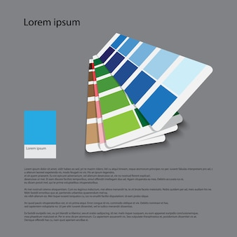 Color guide for graphic for printing